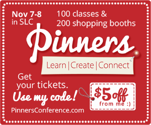 Pinners Conference - PROMO CODE: dbd-pin - http://www.pinnersconference.com/