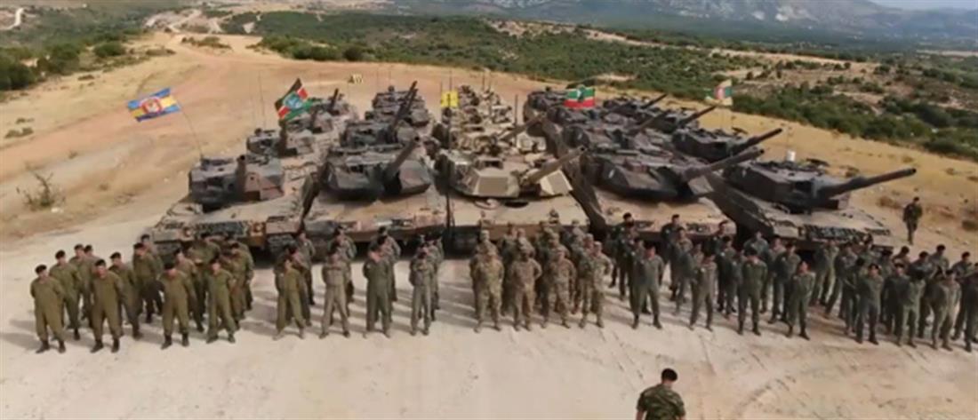 Εντυπωσιακές εικόνες με άρματα μάχης στην Ξάνθη - ΒΙΝΤΕΟ