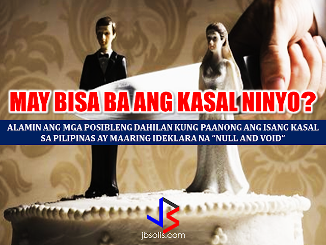 Marriage is a union of two people in matrimony duly solemnized by a priest, a pastor, a minister a licensed representative of a congregation authorized to conduct  such act or a judge/public official with authority to join a couple in matrimony. In such cases, a valid legal marriage can be difficult to annul and it has to go various legal process and a lot of penny to spend. However, there are some circumstances that a marriage can be declared null and void.  Here are some grounds stated in Article 35 of Executive Order No. 209, otherwise known as the Family Code of the Philippines:  (1) when a marriage is contracted by any party below eighteen (18) years of age even with the consent of parents or guardians;    (2) when a marriage is solemnized by any person not legally authorized to perform marriages, unless such marriage was contracted with either or both parties believing in good faith that the solemnizing officer had the legal authority to do so;    (3) when a marriage is solemnized without license, except those covered under Title I, Chapter 2 of the Family Code;   Family Code of the Philippines Title 1 Chapter 2. Marriages Exempted from License Requirement  Art. 27. In case either or both of the contracting parties are at the point of death, the marriage may be solemnized without necessity of a marriage license and shall remain valid even if the ailing party subsequently survives. (72a)  Art. 28. If the residence of either party is so located that there is no means of transportation to enable such party to appear personally before the local civil registrar, the marriage may be solemnized without necessity of a marriage license. (72a) Art. 29. In the cases provided for in the two preceding articles, the solemnizing officer shall state in an affidavit executed before the local civil registrar or any other person legally authorized to administer oaths that the marriage was performed in articulo mortis or that the residence of either party, specifying the barrio o