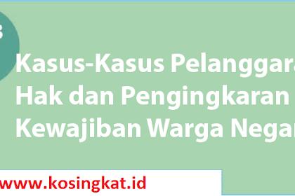 Kunci Jawaban PKN Kelas 12 Halaman 141 Uji Kompetensi 4