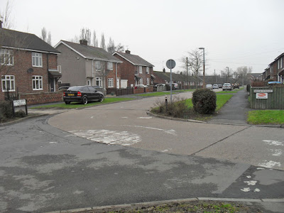 The old road surface on the Newlands Estate in Brigg - picture on Nigel Fisher's Brigg Blog