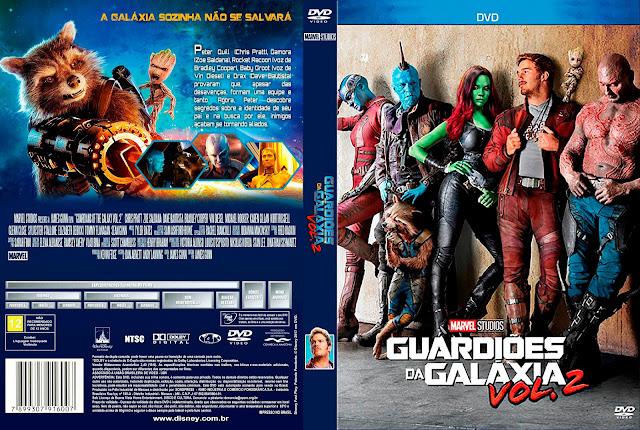 Capa DVD Guardiões da Galáxia Vol. 2 [Custom]