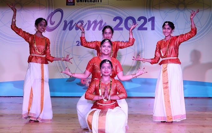 Students from Kerala at Chandigarh University celebrated Onam