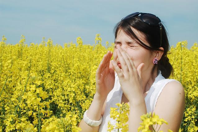 allergy sneeze girl