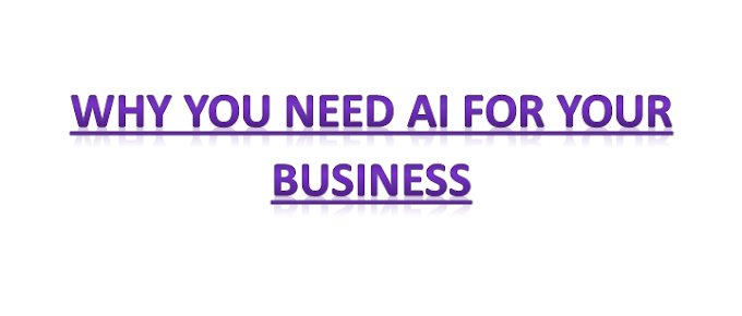 Why You Need AI For Your Business