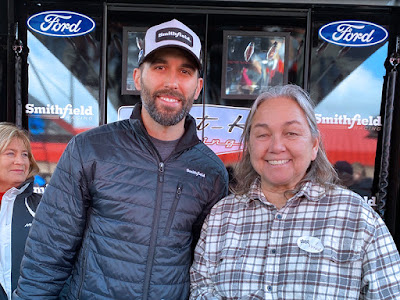 Aric Almirola and #NASCAR Race Mom - Auto Club Speedway