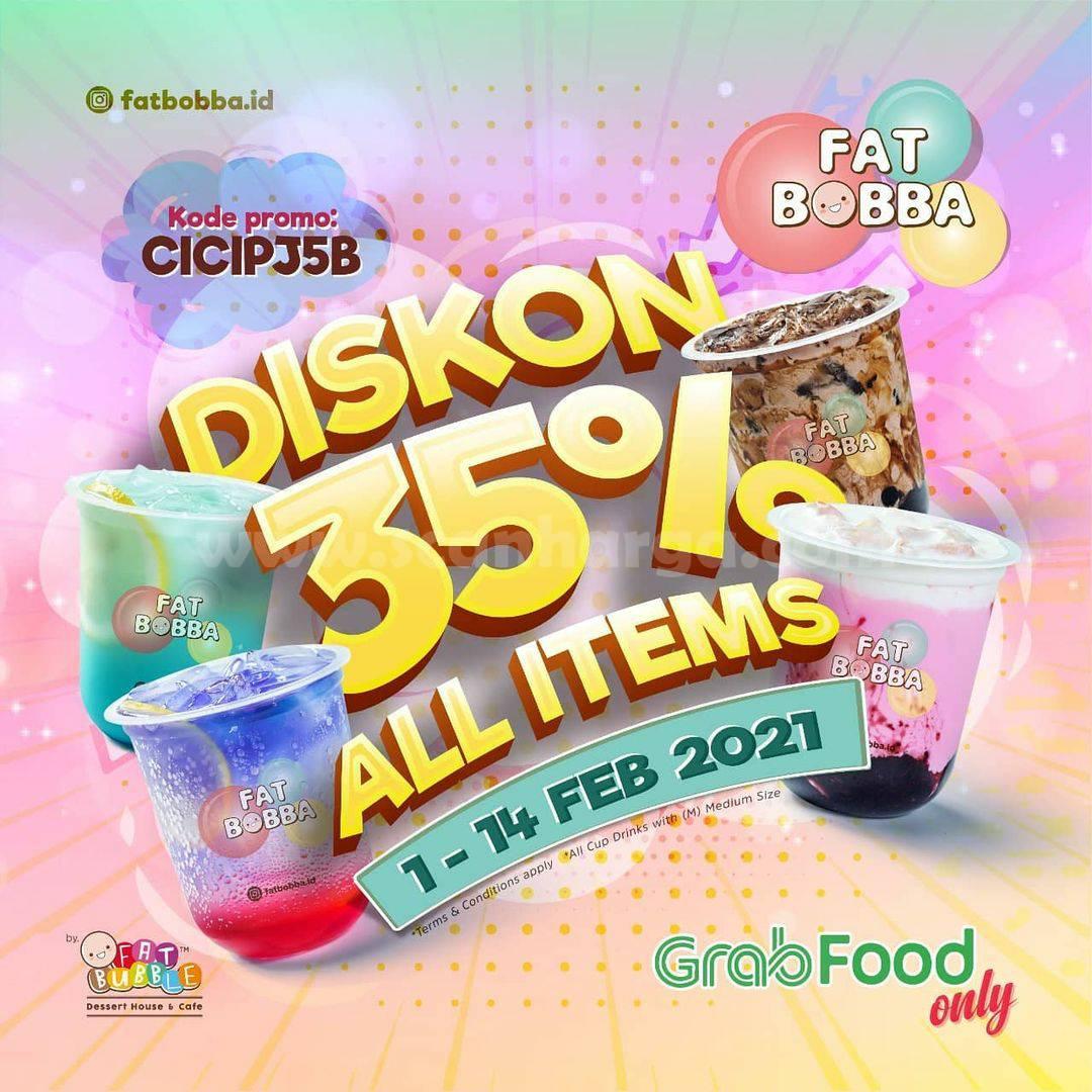 Promo FAT BOBBA GRABFOOD! Diskon 35% Semua Menu