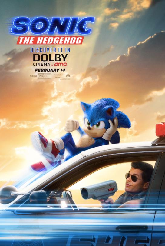 Sonic The Hedgehog Jan 2020 New Poster Superbowl Tvc Tv Spots