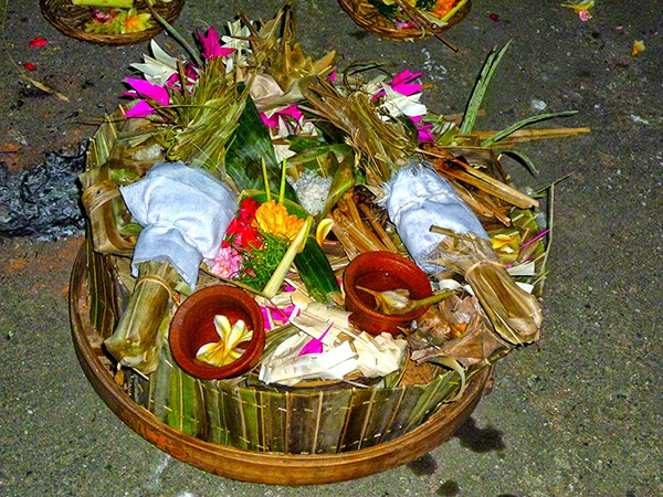 Ofrendas en Bali