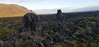 Campos de lava Berserkjahraun. Península de Snaefellsnes (Snæfellsnes). Islandia, Iceland.