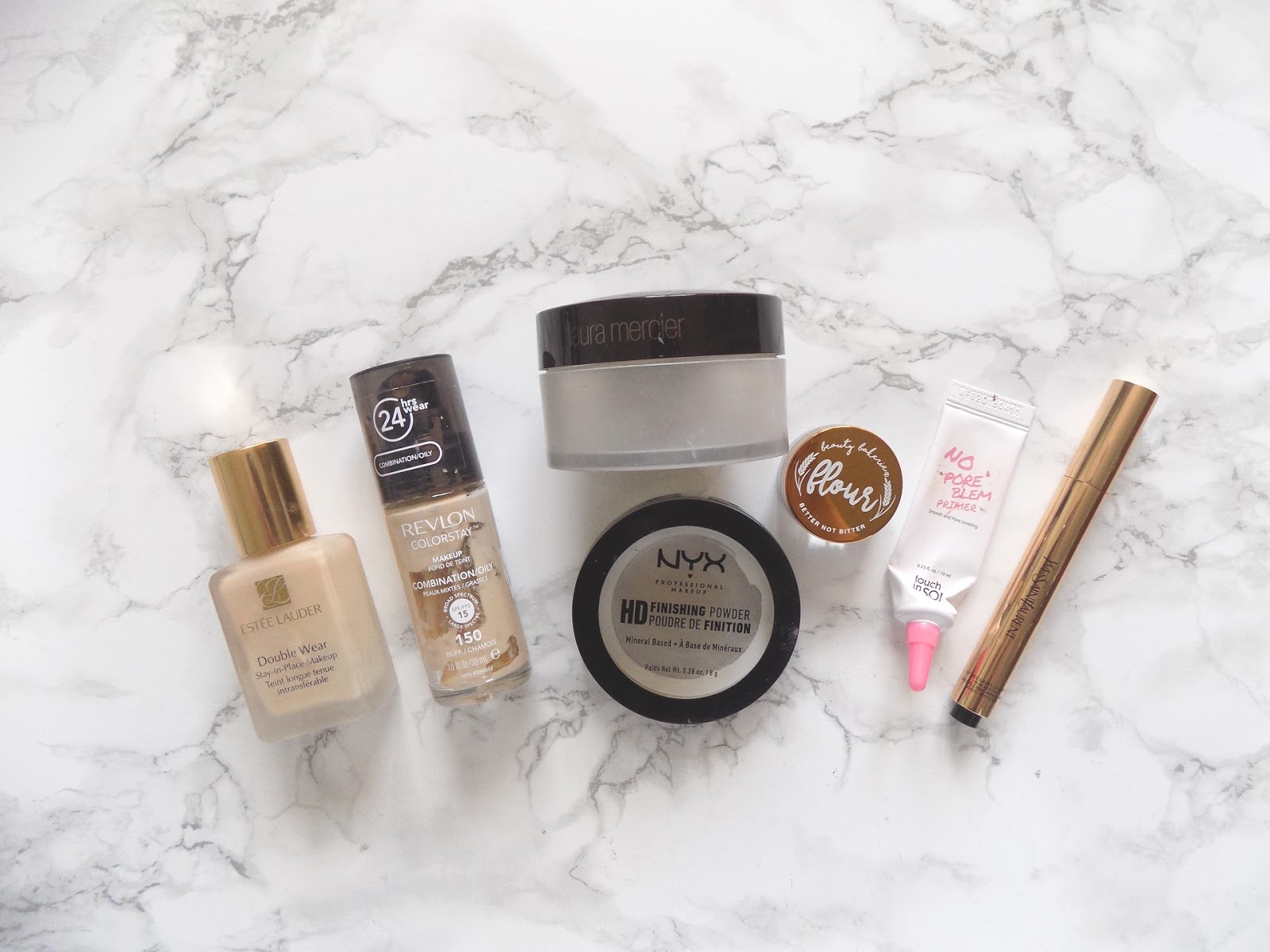 makeup empties Estée Lauder Laura mercier revlon review