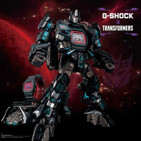 Jam Transformers x G-Shock DW-5600TF19-SET Master Nemesis Prime Box Set
