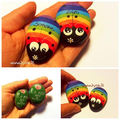 Gadget arcobaleno coccinelle bomboniere
