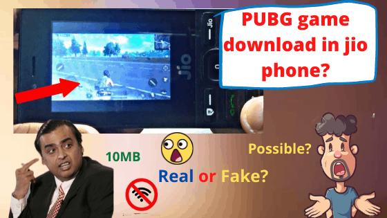 PUBG game download in jio phone free