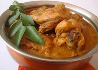 Penyajian kari ayam simpel dan lezat