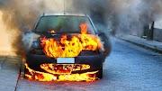 Derecske közelében kigyulladt egy autó