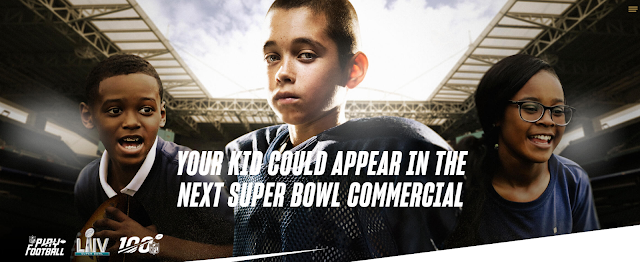 The NFL wants the next generation of superstars! Show off your kid's abilities and enter a sweepstakes to have your child star in the next Super Bowl commercial!