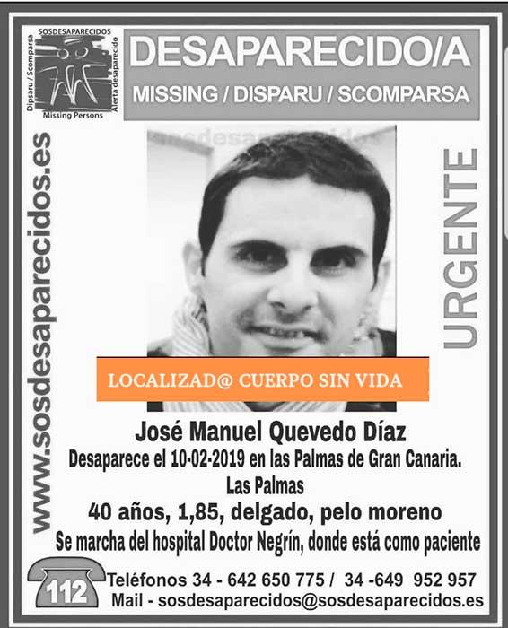 Encuentran sin vida desaparecido en Las Palmas de Gran Canaria