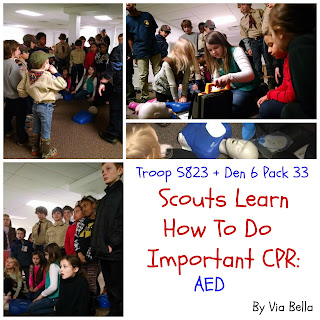 Scouts Learn CPR, CPR, AED