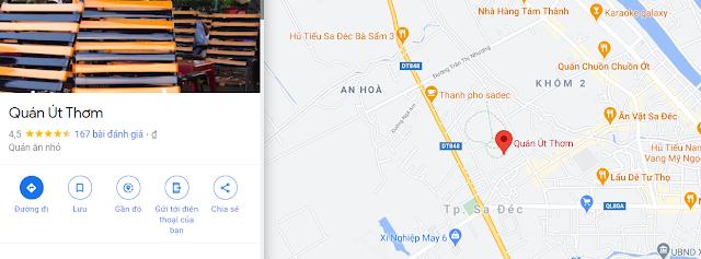 Địa điểm ăn uống Sa Đéc Út Thơm