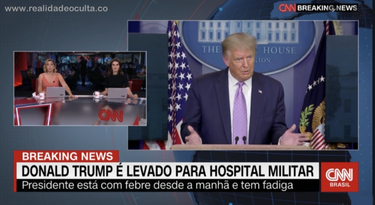 Trump está infectado com COVID-19