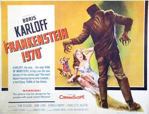 Poster - Frankenstein 1970 (1958)