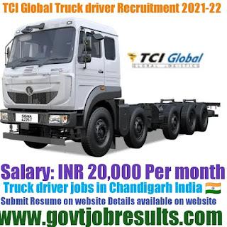 TCI Global Truck Driver Recruitment 2021-22