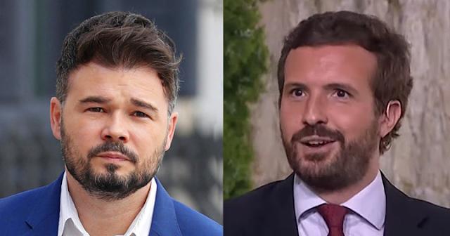 Gabriel Rufián y Pablo Casado