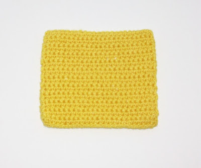 Cheese Slice for Crocheted Cheeseburger Potholder Set
