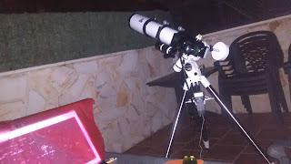 Observacion a traves del Refractor TS110ED