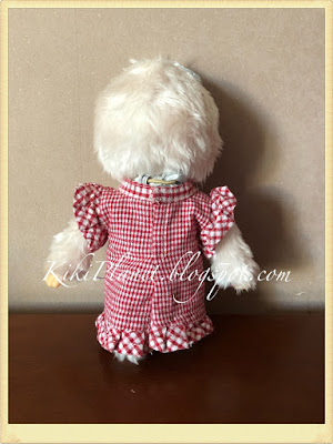 kiki monchhichi robe vêtement doll handmade couture fait main