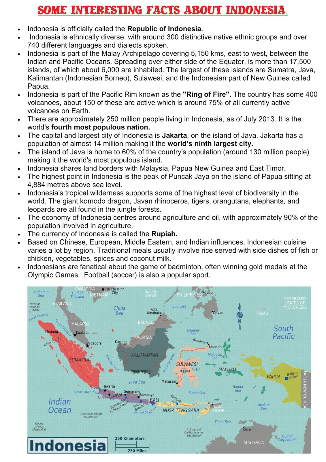 Stage 2 3 Year 4 And 5 Geography Content Place Indonesia