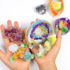 how to make borax crystals grow on pipe cleaners to create art sculptures