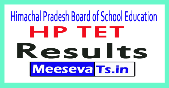 Himachal Pradesh Board of School Education HP TET Result 2017