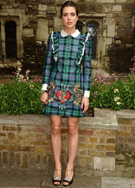 "Charlotte Casiraghi and Tatiana Santo Domingo who is the wife of Andrea Casiraghi attended the ""Gucci Cruise 2017"" fashion show which was held at Westminister Abbey"
