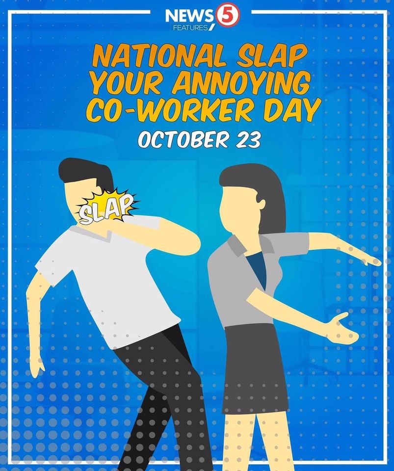 Slap Your Annoying Coworker Day Wishes Unique Image
