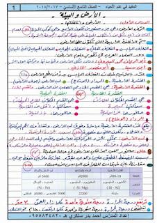 شروحات وحلول ونماذج في مادة العلوم العامة (علوم - فيزياء - كيمياء) للصف التاسع تحضير للامتحان النهائي.