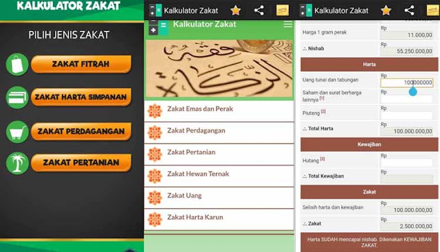 Aplikasi Penghitung Zakat