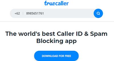Cara menggunakan Truecaller versi web