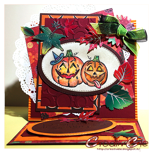 Challenge #104 at Creative Moment: Have pumpkins on your card