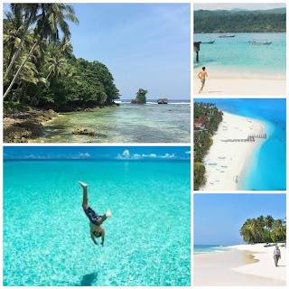 Pulau pisang di Kab. Pesisir barat Prov. Lampung bagaikan permata biru