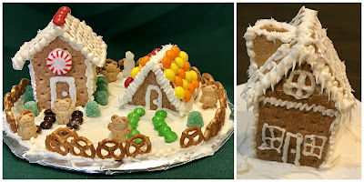 Mini gingerbread house program for kids, graham cracker houses