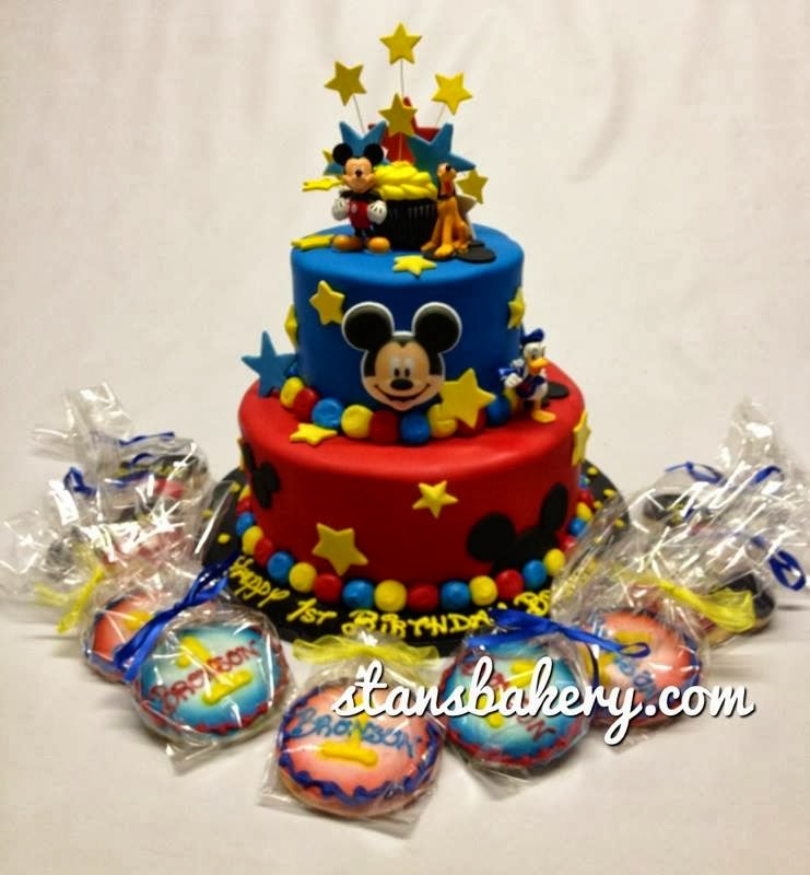 Mickey Mouse 1st Birthday Cake: Leslie's Cool Cakes From Stan's Northfield Bakery: Mickey