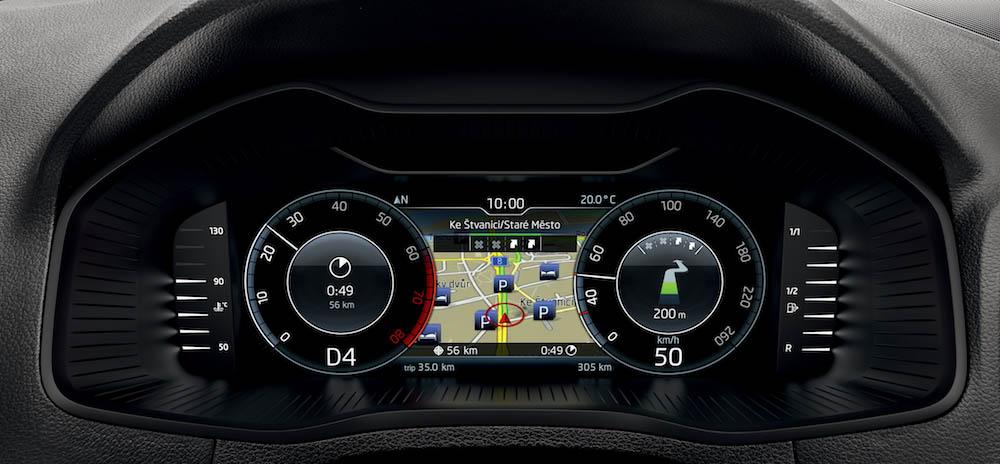 skoda karoq digital cockpit modalità classica