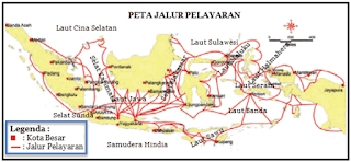peta jalur pelayaran antar pulau di Indonesia www.simplenews.me