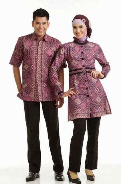 Model Baju Batik Couple Anak Muda 1