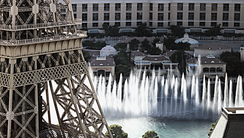 paris las vegas hotel fountain view