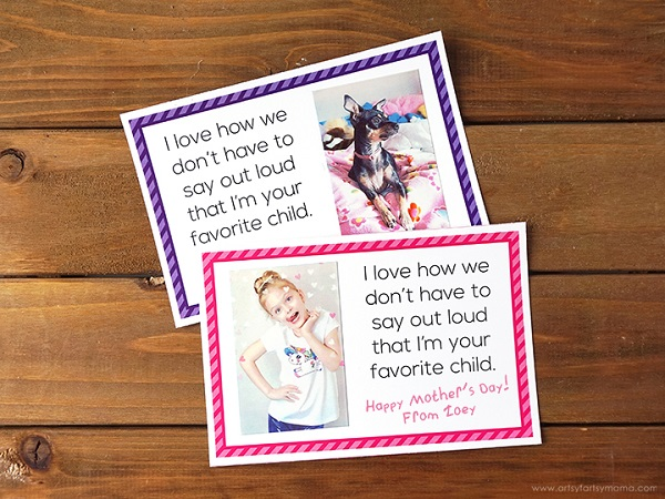 Mother's Day selfie cards