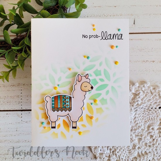 No prob-llama by Twiddler's Nook features Loveable Llamas by Newton's Nook Designs; #newtonsnook