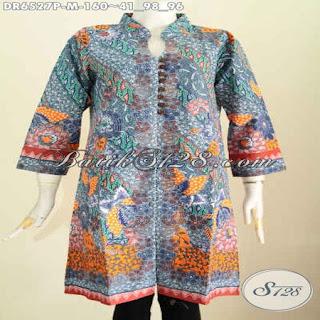 blus batik modern big size